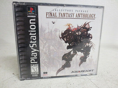 Final Fantasy Anthology Sony PlayStation 1 PS1 1999 Video Game W Case FREE S-H