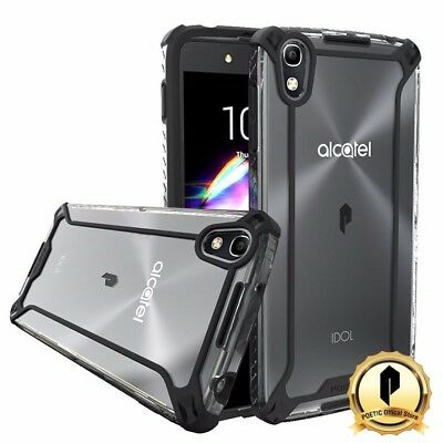 POETIC Affinity Series For ALCATEL OneTouch Idol 4 Protective Bumper Case BLK