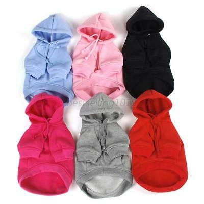 US Small Pet Puppy Dog Winter Warm Sweater Coat Costume Hoodie Apparel Clothes