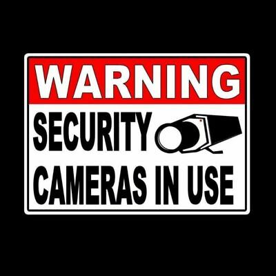 Warning Security Cameras In Use Video Surveillance Sign Metal Sign 5 x 7 MS001