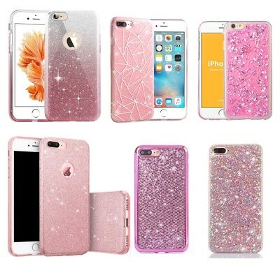 Bling Glitter Sparkle Cute Protective Phone Case Covers For iPhone XS Max 8 Plus