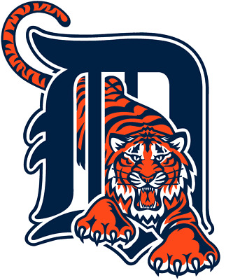 Detroit Tigers MLB Color Die-Cut Decal  Sticker Free Shipping