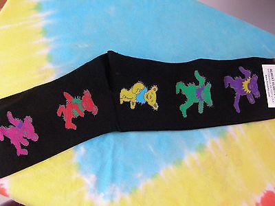 Grateful Dead Mens Black Dancing Bears Socks