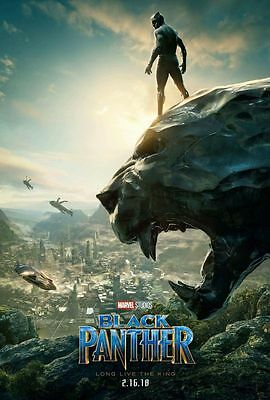 Black Panther - original DS movie poster - DS 27x40 Advance - Marvel INTL