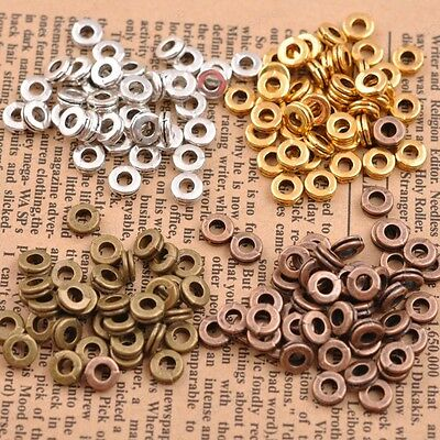 100Pcs Tibetan Silver Charms DIY Spacer Beads For Jewelry Findings 6MM