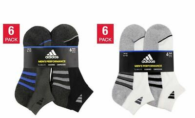 Adidas Mens 6-pair Low Cut Sock with Climalite