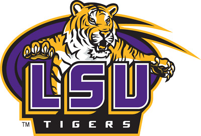 LSU Tigers NCAA Color Die-Cut Decal  Sticker Free Shipping