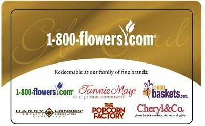 1-800 Flowers 100 eCertificate - Gift card - No Expiration or Fees