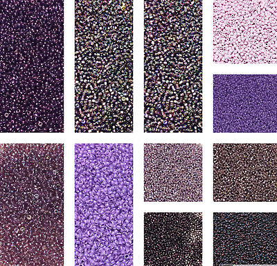 150 Japanese Purple- Amethyst Round Glass-Seed Beads-28 Grams-CHOOSE COLOR