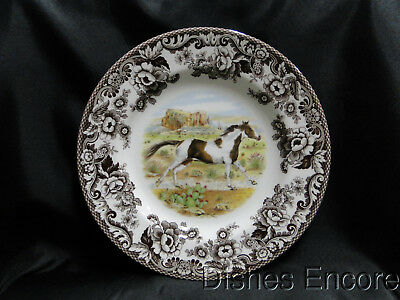 Spode Woodland Paint Horse England Dinner Plate 10 34 NEW w Orig Box