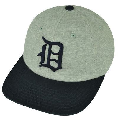 MLB American Needle Detroit Tigers Clip Buckle Relaxed Hat Cap Gray Adjustable