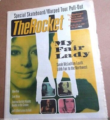 The Rocket Music Art 1997 Neil Young Lollapalooza Skate Warped Tour Newspaper