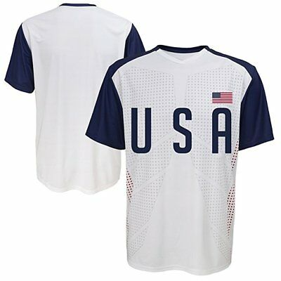 World Cup Soccer USA Football Soccer Mens Jersey Short Sleeve  Tee