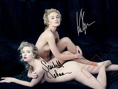 REPRINT RP 8x10 Signed Photo  Keira Knightley - Scarlett Johansson  NUDES