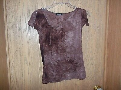 Wet Seal Sleevless Top Junior Size Medium Shades of Brown