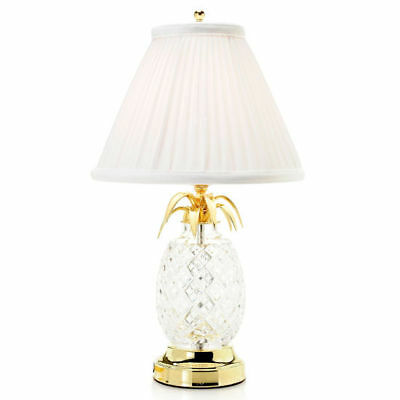 Waterford Crystal Hospitality 18 Pineapple Table Lamp w Pleated Shade
