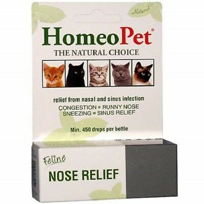 HomeoPet Pet Feline Nose Natural Relief Nasal - Sinus Infection