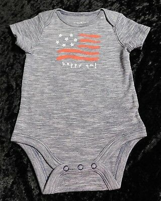 Fourth of July Happy 4th Independence Day Blue Infant Bodysuit 3 or 6 Months