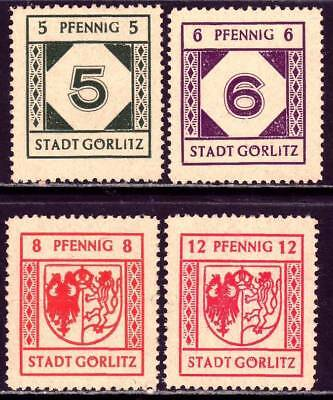 GORLITZ POST WWII OCCUPATION LOCALS mint never hinged stamp set