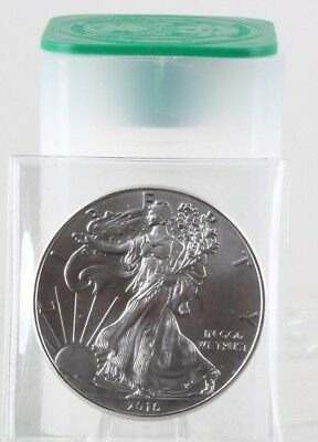 Roll of 20 - 2016 1 oz Silver American Eagle 1 Coin BU Lot Tube of 20C0057