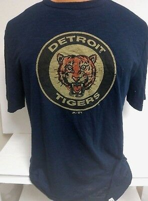 DETROIT TIGERS MENS NAVY COOPERSTOWN LOGO SHIRT MAJESTIC NEW PICK SIZE