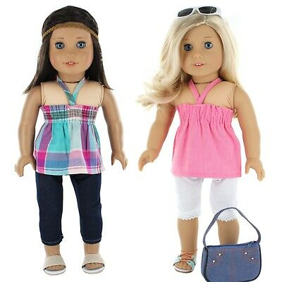 American Girl Doll Clothes 18 doll clothes Set- 7 Pc- by PZAS Toys