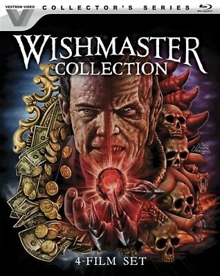 WISHMASTER COLLECTION 4 FILM SET New Blu-ray Vestron Video Collectors Series