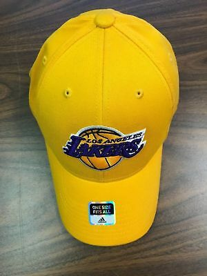 NBA GOLD ADIDAS Los Angeles LAKERS MAXFIT Cap