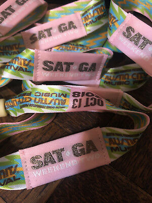 Austin City Limits Festival ACL Tickets Wristbands - SATURDAY OCT 13 - Weekend 2