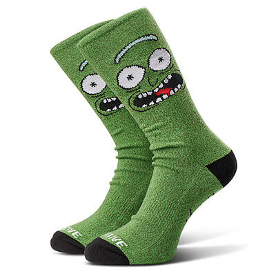 Primitive x Rick and Morty Mens Pickle Rick Crew Socks Green Clothing Apparel