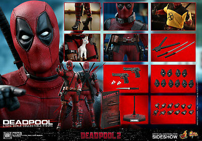 Hot Toys Marvel Comics Deadpool 2 Deadpool 16 Scale 12 Action Figure In Stock