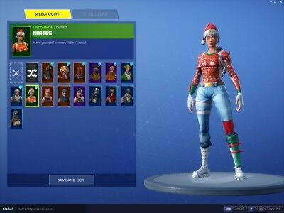 fortnite christmas skins account