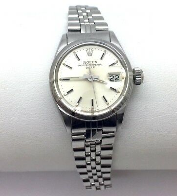 ROLEX Oyster Perpetual Date Stainless 6519 Automatic Ladies Wristwatch