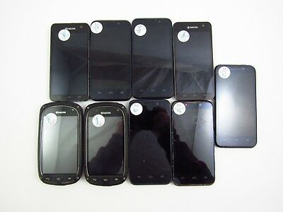Lot of 9 Assorted Boost MobileSprint Check IMEI Fair Condition 5-4738
