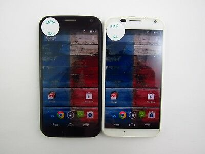 Lot of 2 Motorola X XT1049 Unknown Carrier Check IMEI Good Condition 5-1258