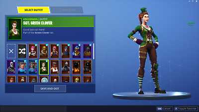 Fortnite Account  Battle Royale  Save The World  55 skins -