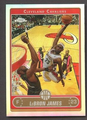 2006-07 Topps Chrome Refractor 67 LeBron James Cleveland Cavaliers