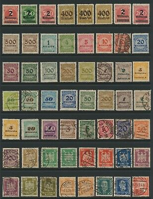 German Stamps - Singles - Mint - Used - Lot F-150