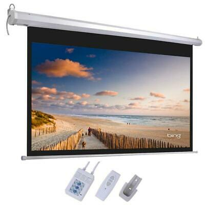 HD 92 169 Material Foldable Electric Motorized Projector Screen - Remote