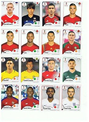 2018 PANINI FIFA WORLD CUP RUSSIA STICKERS - YOU PICK EIGHT8 YOU NEED