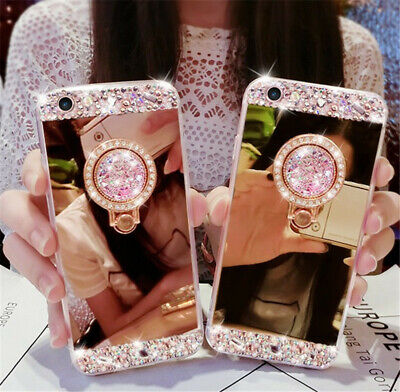 Bling Crystal Glitter Diamond Mirror Back Case Protective Covers For iPhone