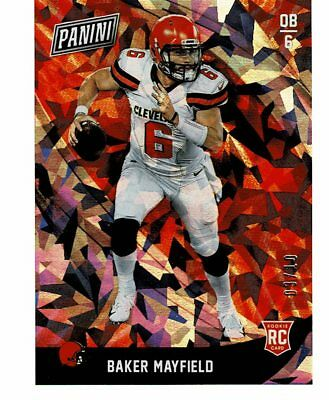 2018 Panini Black Friday Baker Mayfield RC Rookie Cracked Ice Parallel 310 SSP