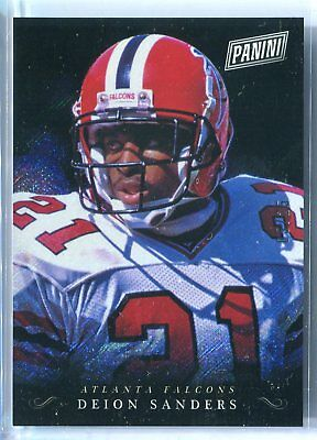 2018 Panini Black Friday Deion Sanders RAPTURE PARALLEL DS 525 SP HOF FALCONS