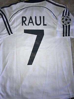 REAL MADRID RAUL 1999 RETRO JERSEY COLLECTION SALE