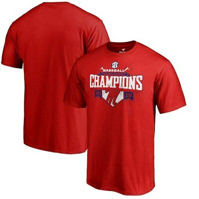 Ole Miss Rebels Fanatics Branded 2018 SEC Baseball Tournament Champions T-Shirt