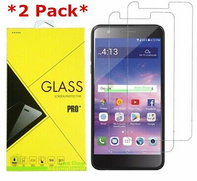 2-Pack Tempered Glass Screen Protector For LG Premier Pro LTE  Xpression Plus