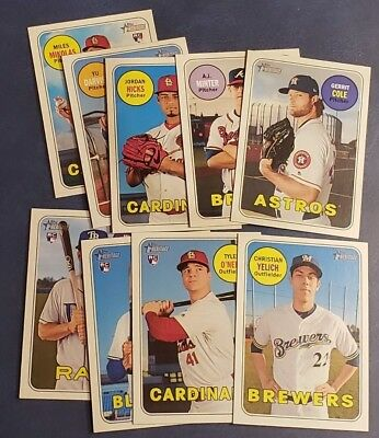 2018 Topps Heritage High Numbers Series  501-700 Rookies You Pick From List-
