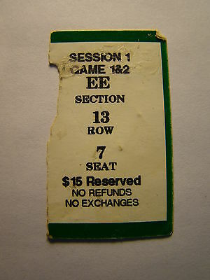 2000 SEC CHAMPIONSHIP TOURNAMENT TICKET STUB SESSION 1 GAMES 1 - 2