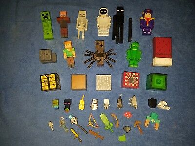 Lot of Minecraft Figures Cubes - Accessories