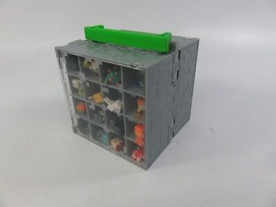 1- Lb Bulk Lot of Unsorted Minecraft Toys Figures with Display Case - LOT